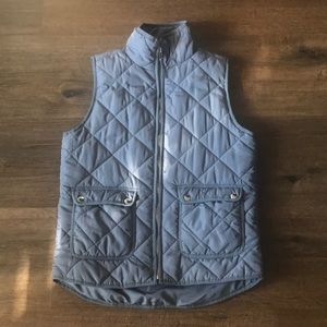 Thread + Supply Gray Quilted Vest